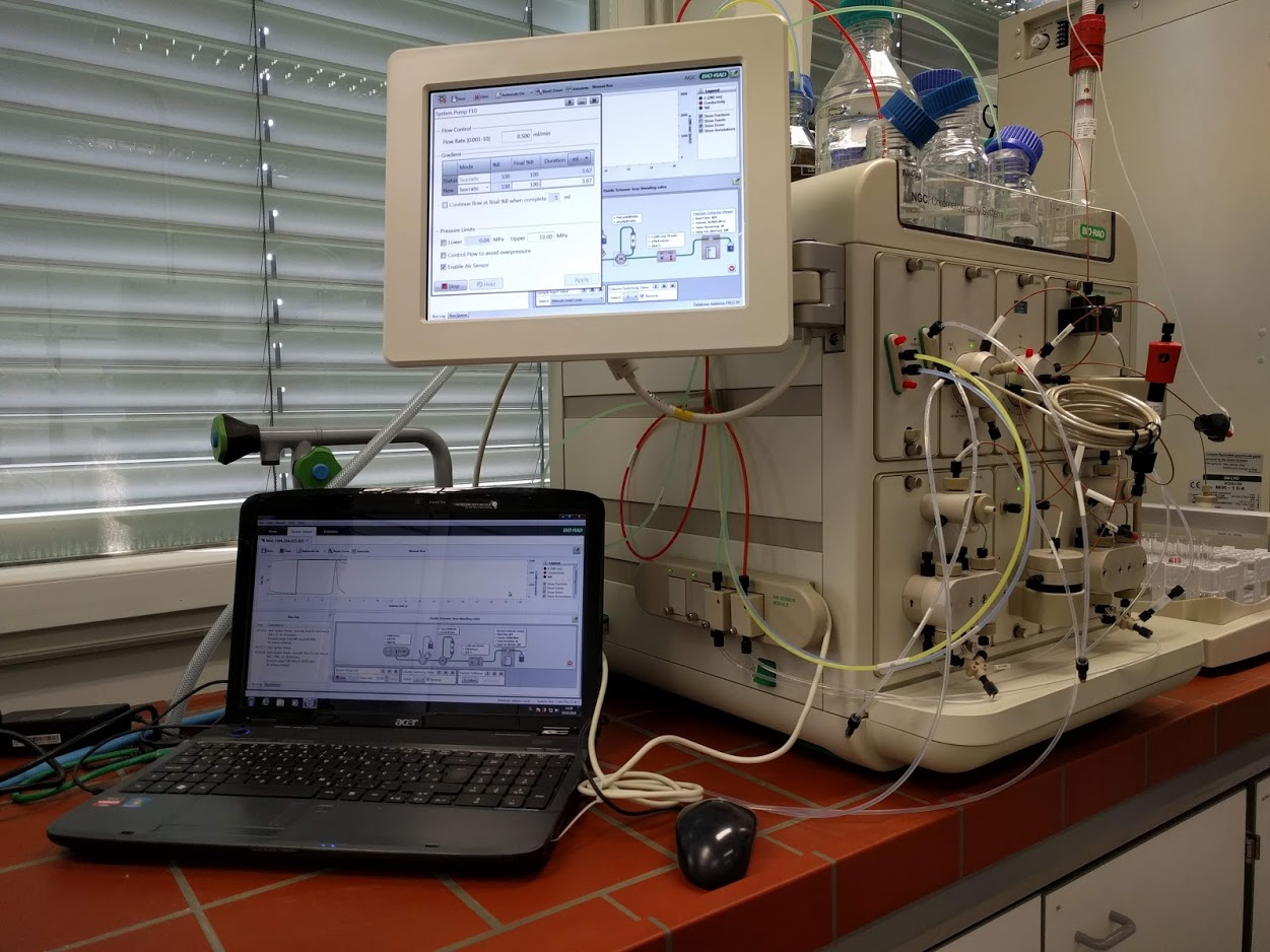 a FPLC chromatographic system