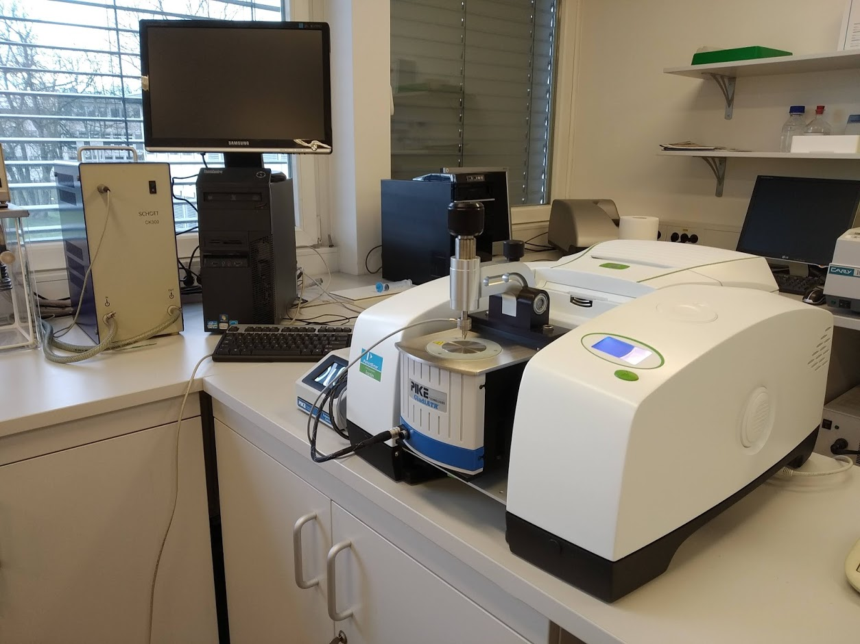 an FTIR spectrophotometer